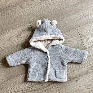 3-6mo Baby Gap cozy garter sweater